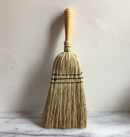 Rice Straw Hand Broom with Wood Handle - 17 in