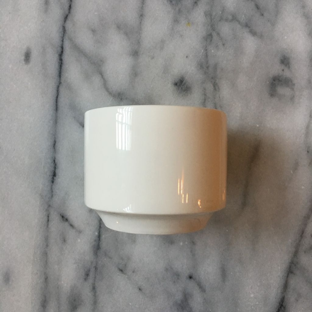 Belgian Porcelain Sugar Pot - White - 2.75 x 3.5 in