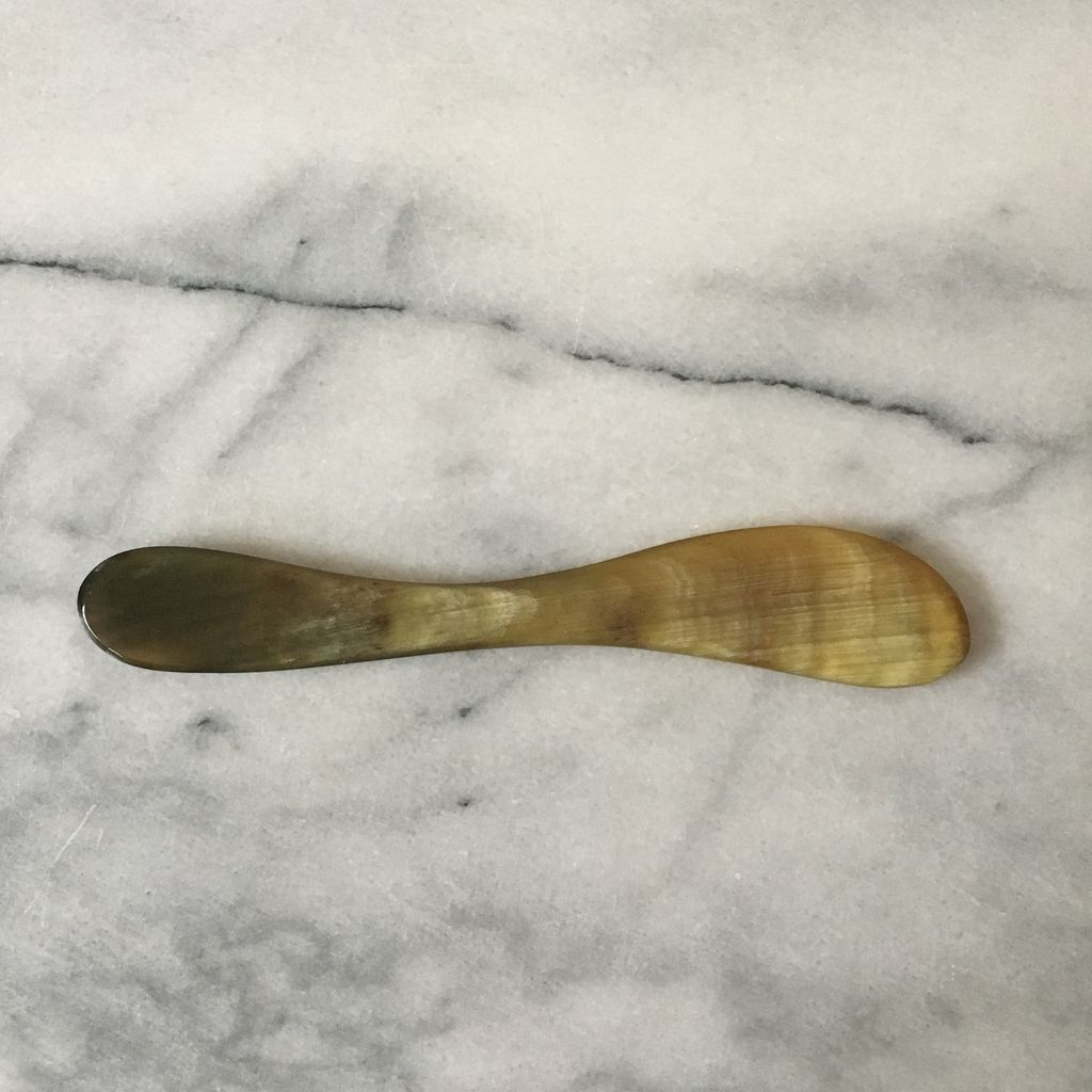 Danish Carved Horn Butter Spreader