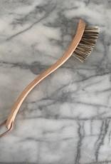 German Beechwood Dish Brush with Extra Stiff Union Blend Bristles - 9.25 in