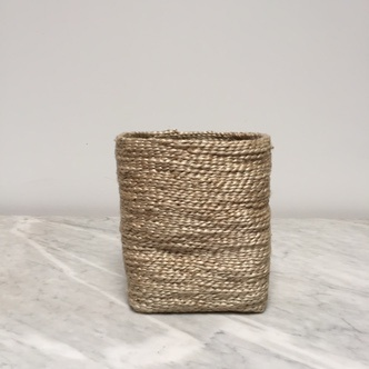 The Dharma Door Moroccan Jute Tall Storage Basket 7.5  H x 6  W (  sc 1 st  The Foundry Home Goods & The Dharma Door Moroccan Jute Tall Storage Basket 7.5