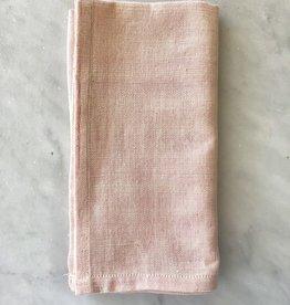 TENSIRA Handwoven Cotton Napkin - Pale Pink - 19 x 19 in