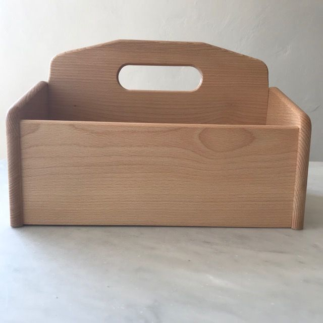 Beechwood Carrying Box Tote Caddy with Handle