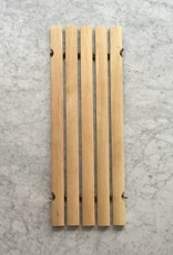Swedish Oil Treated Birch Bath Mat / Tub Soap and Brush Rest Half Size