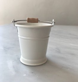 Teeny Tiny White Bucket for Doll's House or Very Tidy Mice - 2 in
