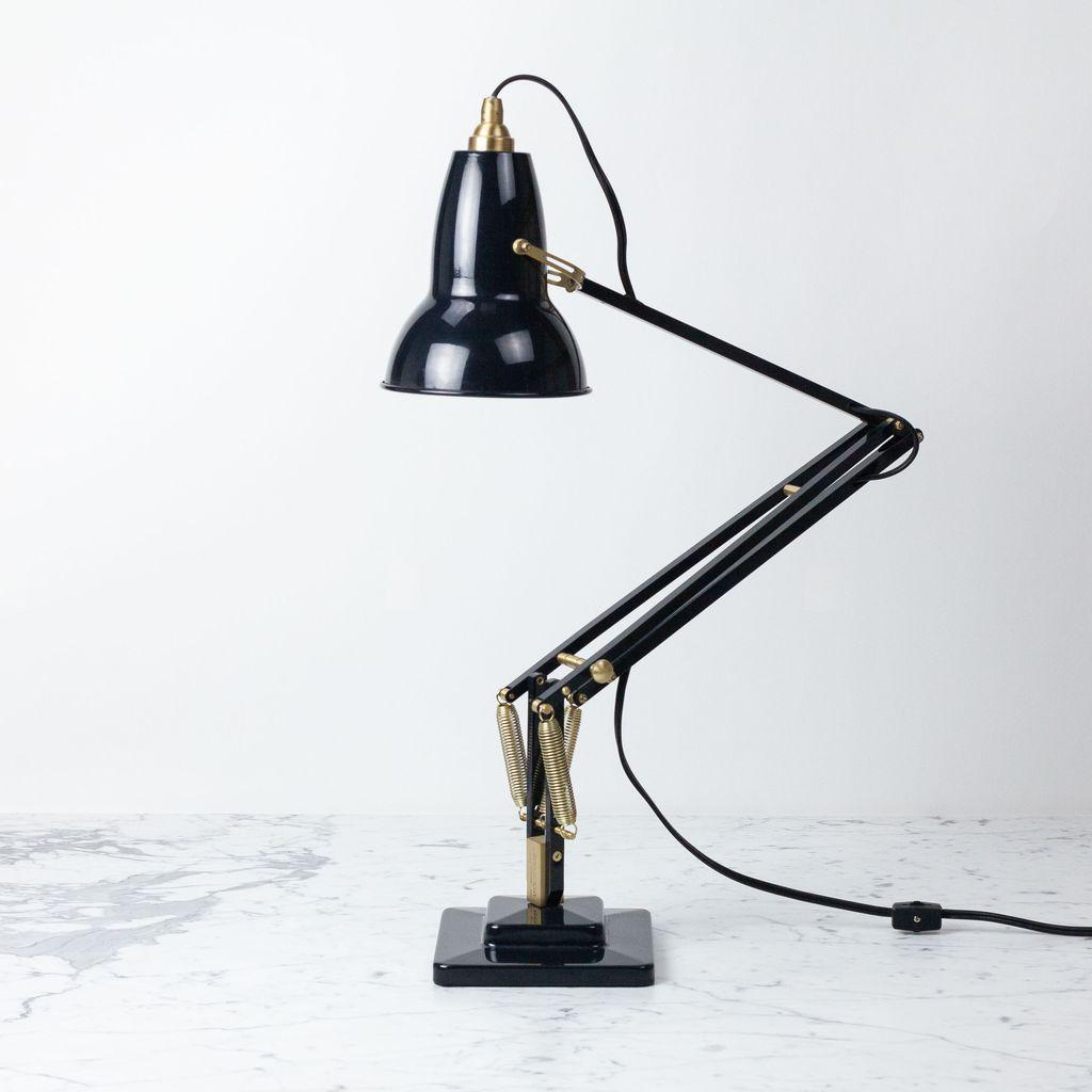 Anglepoise Original 1227 Brass Desk Lamp - Deep Slate