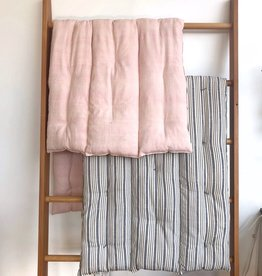 TENSIRA Handwoven Cotton Bedroll - Kapok Filling - Pale Pink - 36 x 75 in