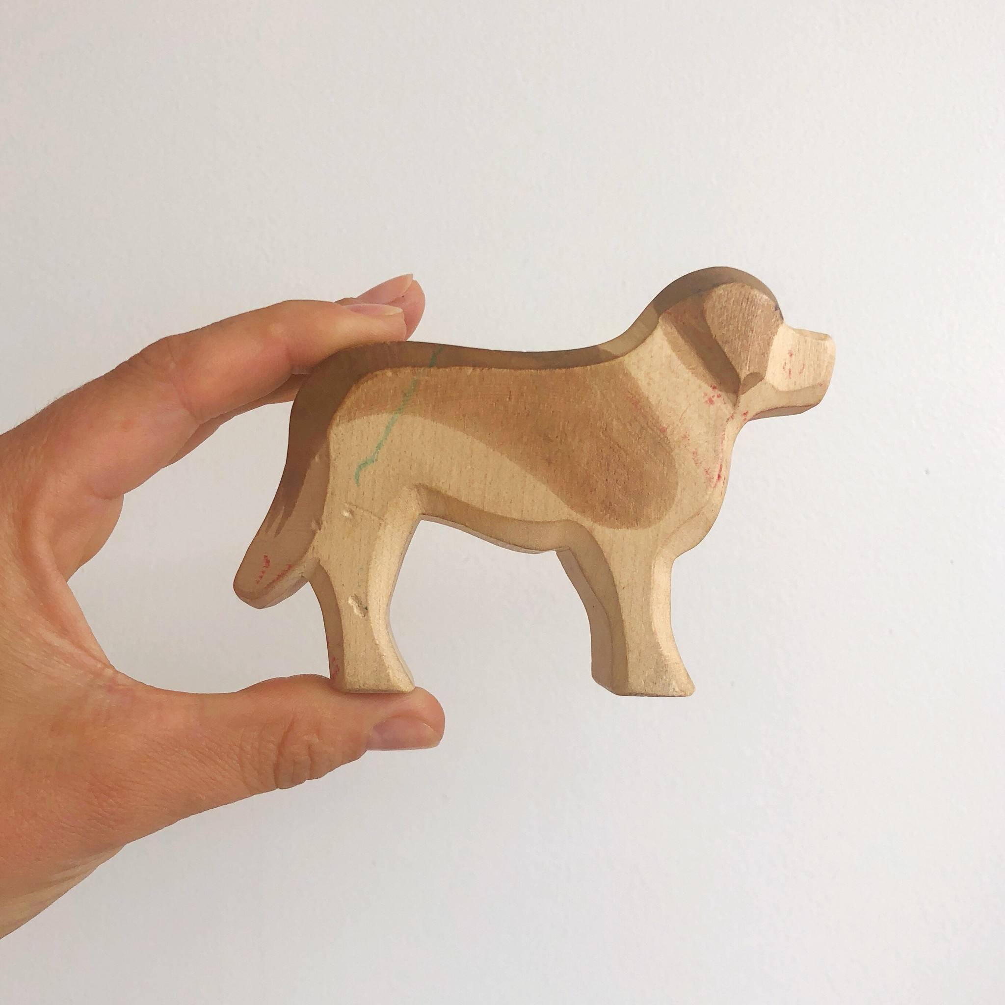 St Bernard Wooden Animal