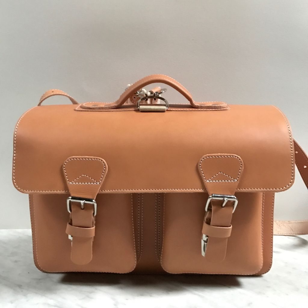 Leather School Satchel Ruitertassen