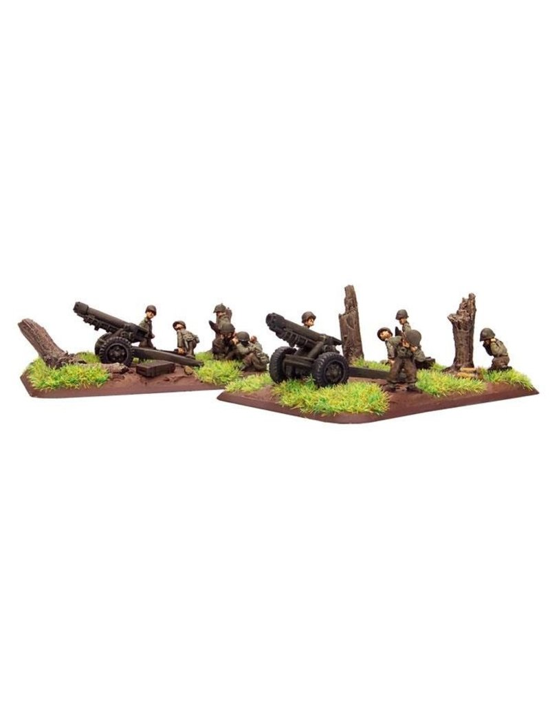 Flames of War US571 M3 105mm light howitzer (x2)