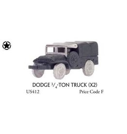 Flames of War US412 Dodge _-ton truck (x2)