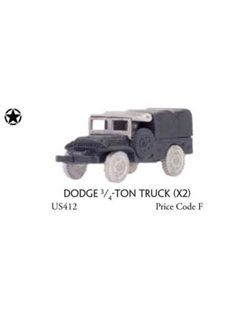 Flames of War US412 Dodge ¾-ton truck (x2)