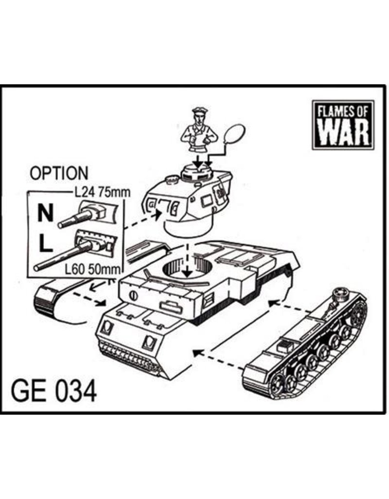 Flames of War GE034 German Panzer III L or N