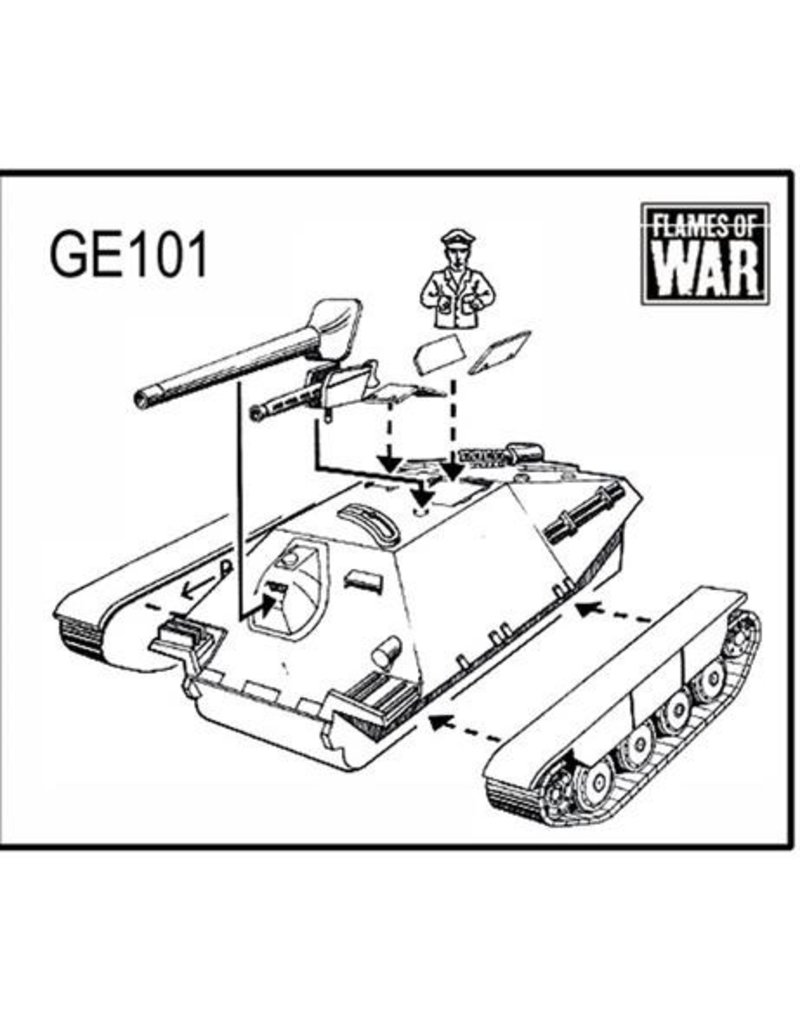 Flames of War GE101 German Hetzer