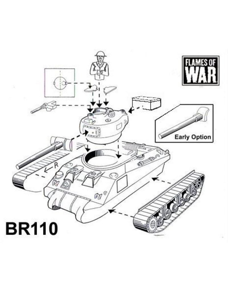 Flames of War BR110 Sherman I