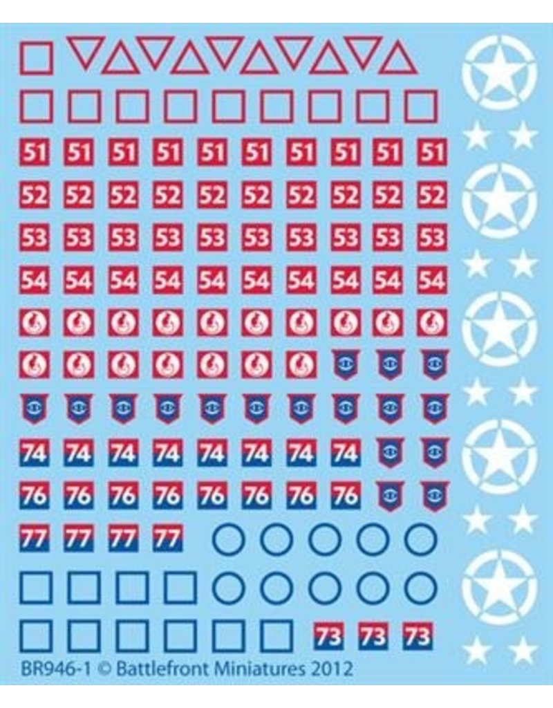 Flames of War BR946 British Decals (Late)