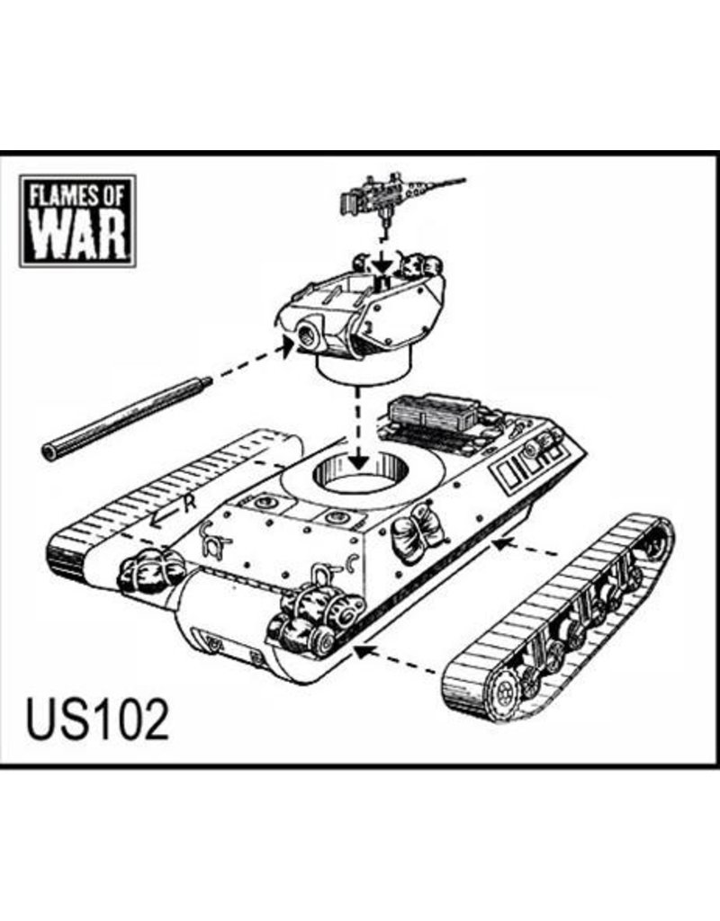 Flames of War US102 M10 3in GMC