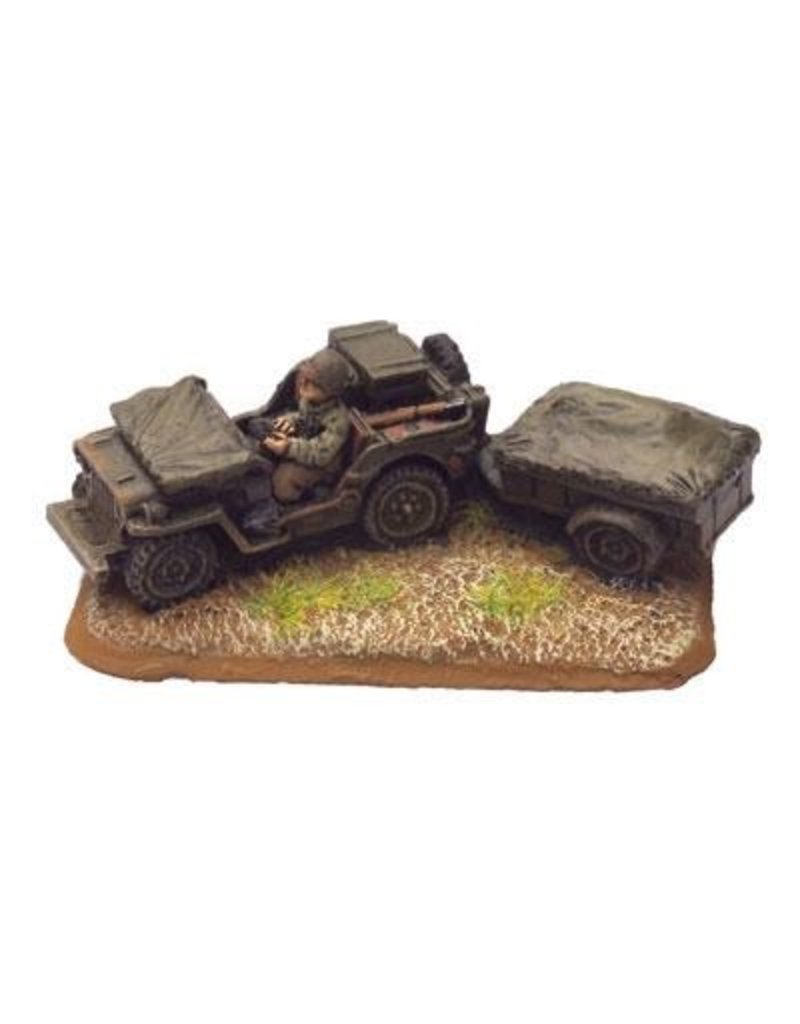Flames of War US409 Jeep & Trailer (x2)