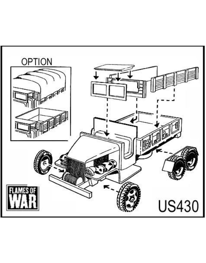 Flames of War US430 GMC 2½-ton truck (x2)