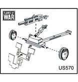 Flames of War US570 M2A1 105mm howitzer (x2)