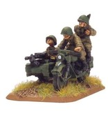 Flames of War SU400 M-72 motorcycle & sidecar (x4)