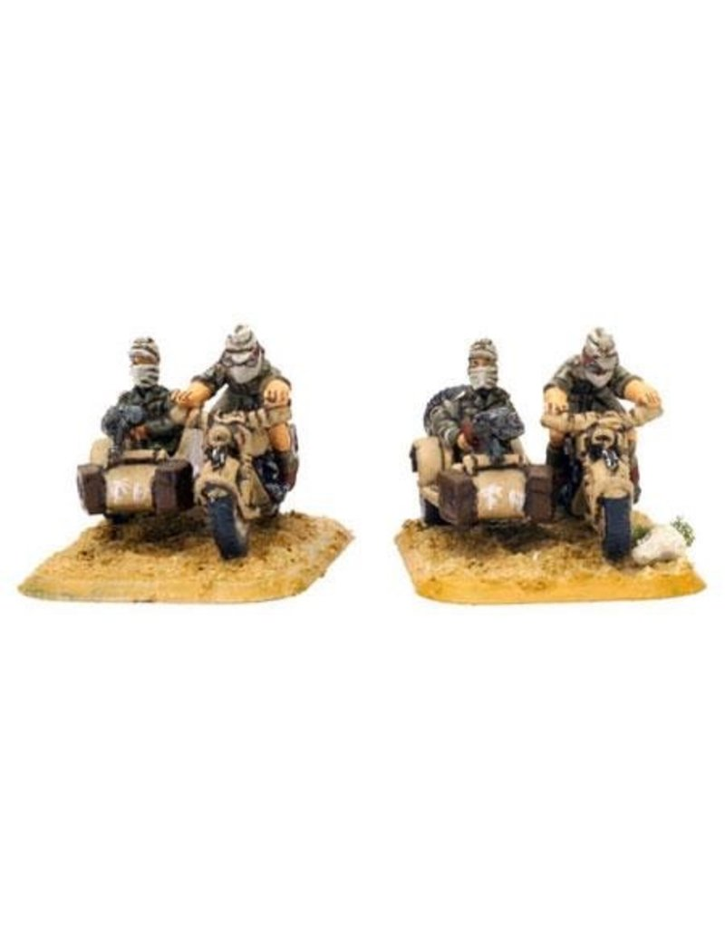 Flames of War GE401 German BMW & Sidecar Afrika
