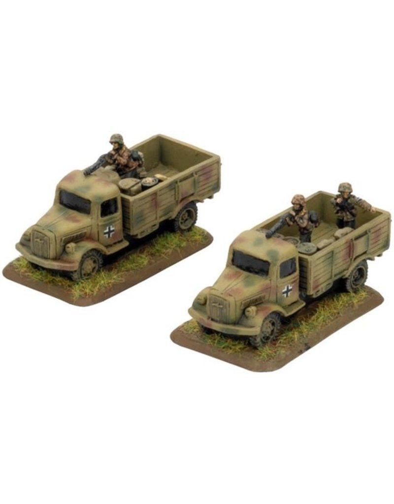 Flames of War GE439 German Reinforced Trucks