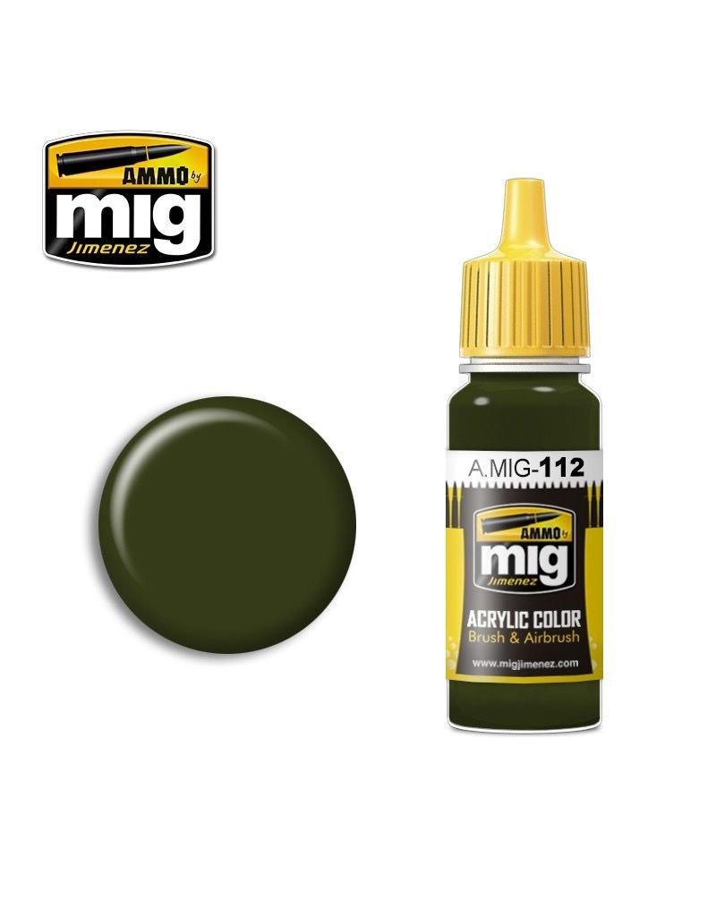 AMMO: of Mig Jimenez DIRECT A.MIG-0112 Acrylic Colors 17ml SCC 15 (BRITISH 1944-45 OLIVE DRAB)
