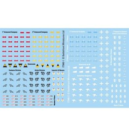 Flames of War IT940 Decals Italian