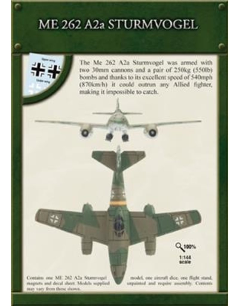 Flames of War AC009 Me 262 A2a Sturmvogel (1:144)