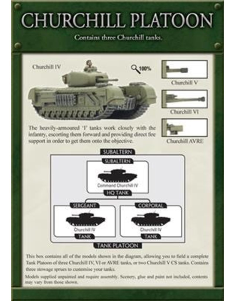 Flames of War BBX23 Churchill Platoon