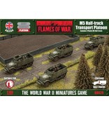 Flames of War BBX29 M5 Half-track Transport Platoon (Plastic)