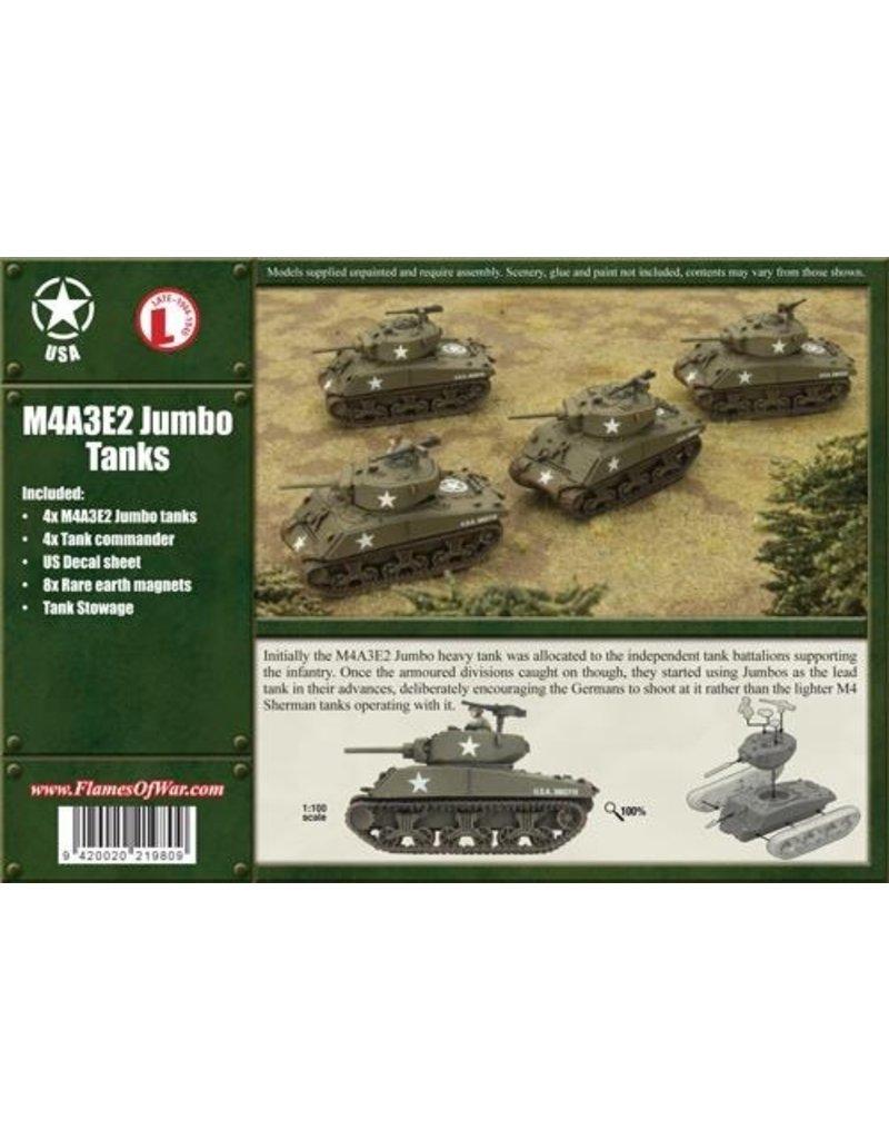 Flames of War UBX25 M4A3E2 Jumbo Tanks