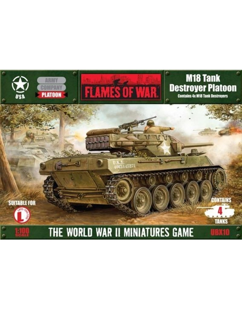 Flames of War UBX10 M18 Tank Destroyer Platoon