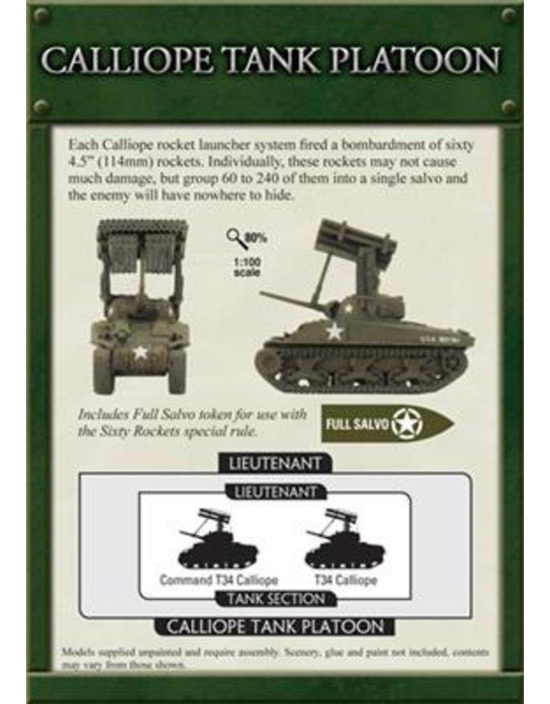 Flames of War UBX34 Calliope Tank Platoon