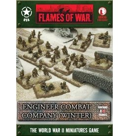 Flames of War UBX36 Engineer Combat Company (Winter)
