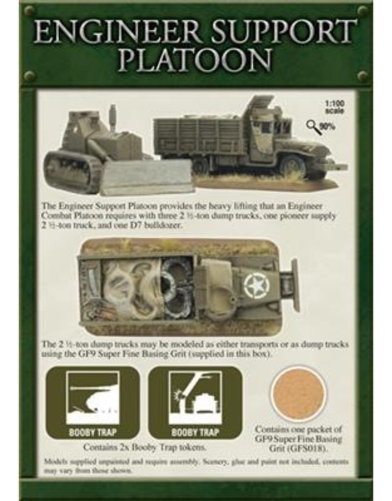 Flames of War UBX37 Engineer Support Platoon