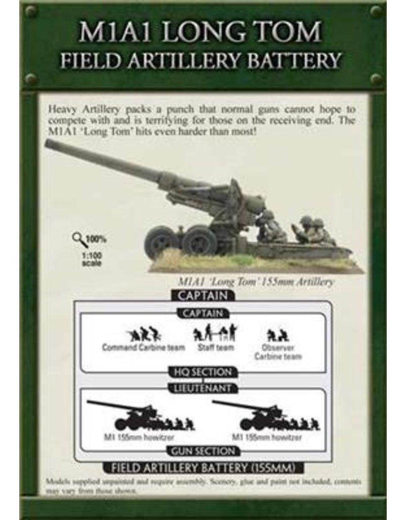 Flames of War UBX40 M1A1 Long Tom Field Artillery Battery