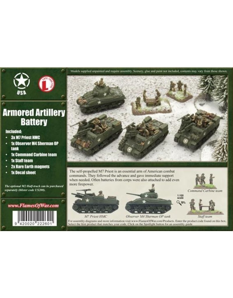 Flames of War UBX12 Armored Artillery Battery