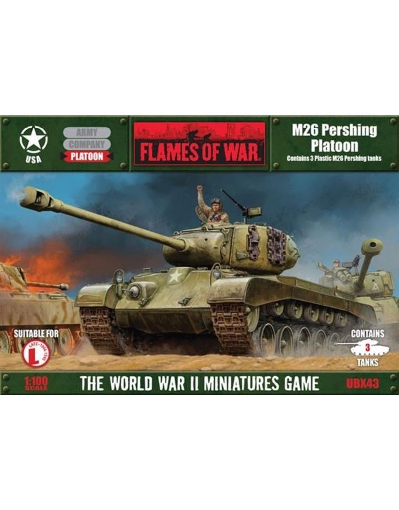 Flames of War UBX43 Pershing Platoon (plastic)