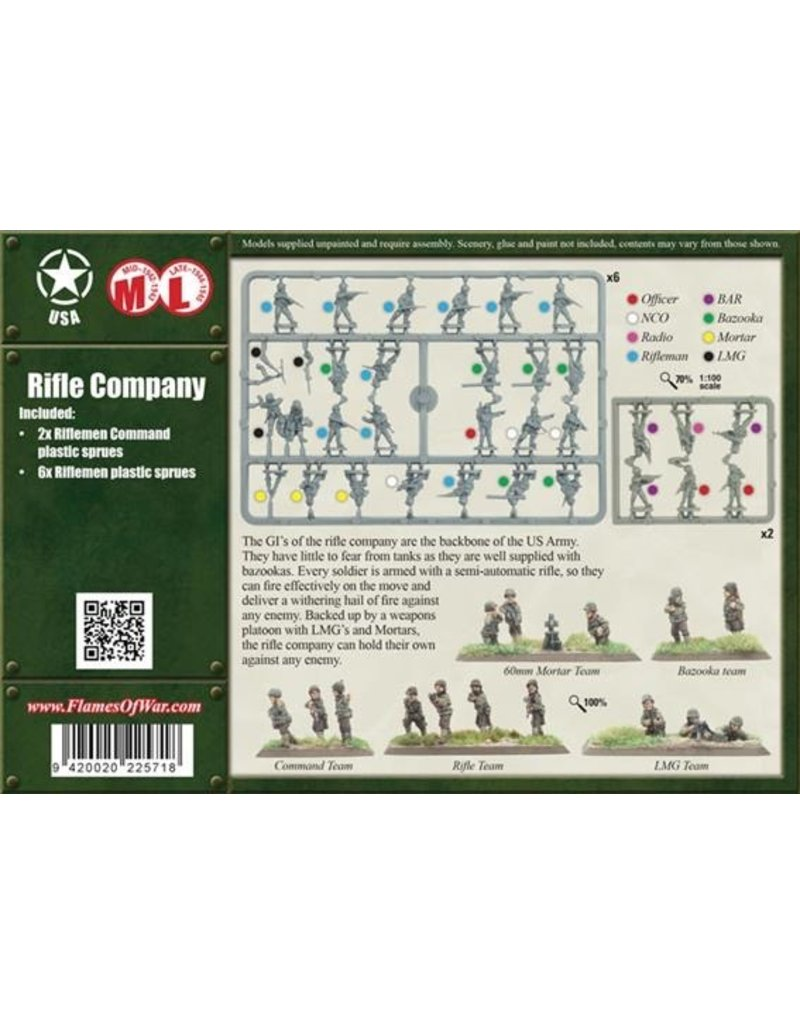 Flames of War UBX42 Rifle Company (Plastic)