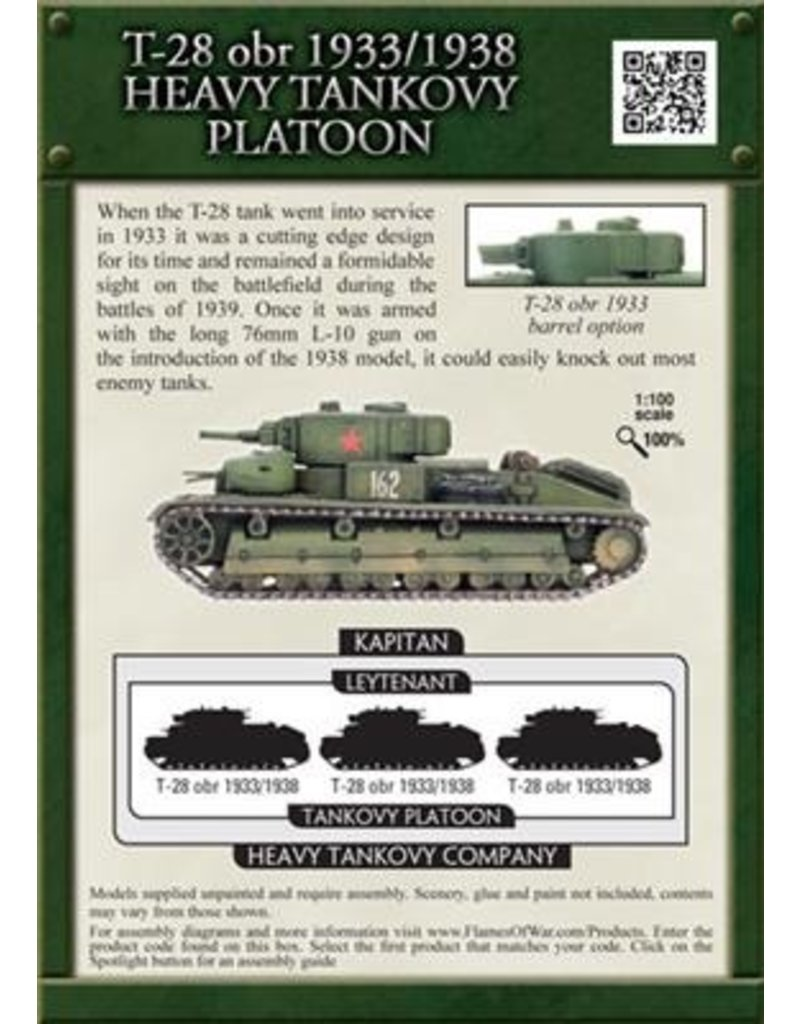 Flames of War SBX24 T-28 obr 1933/1938 Heavy Tankovy Platoon