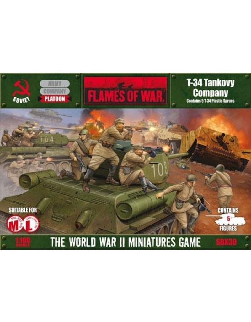 Flames of War SBX30 T-34 Company (plastic)
