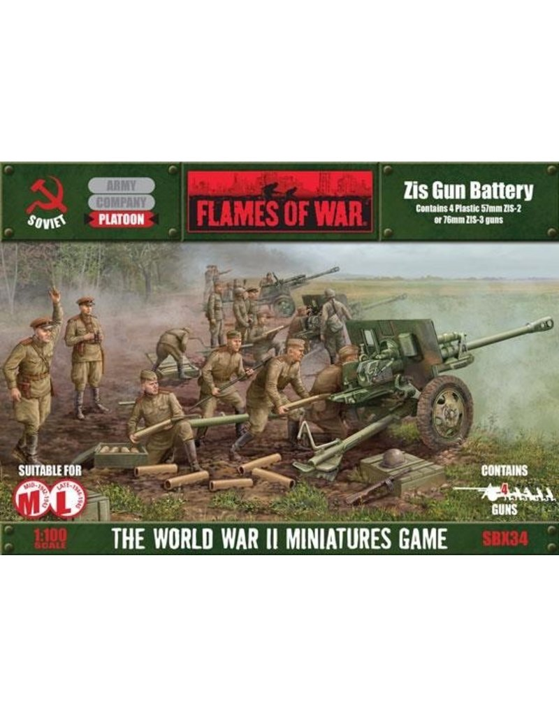 Flames of War SBX34 Zis Gun Battery (Plastic)