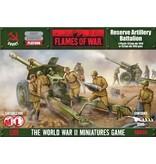 Flames of War SBX35 Reserve Artillery Battalion (Plastic)