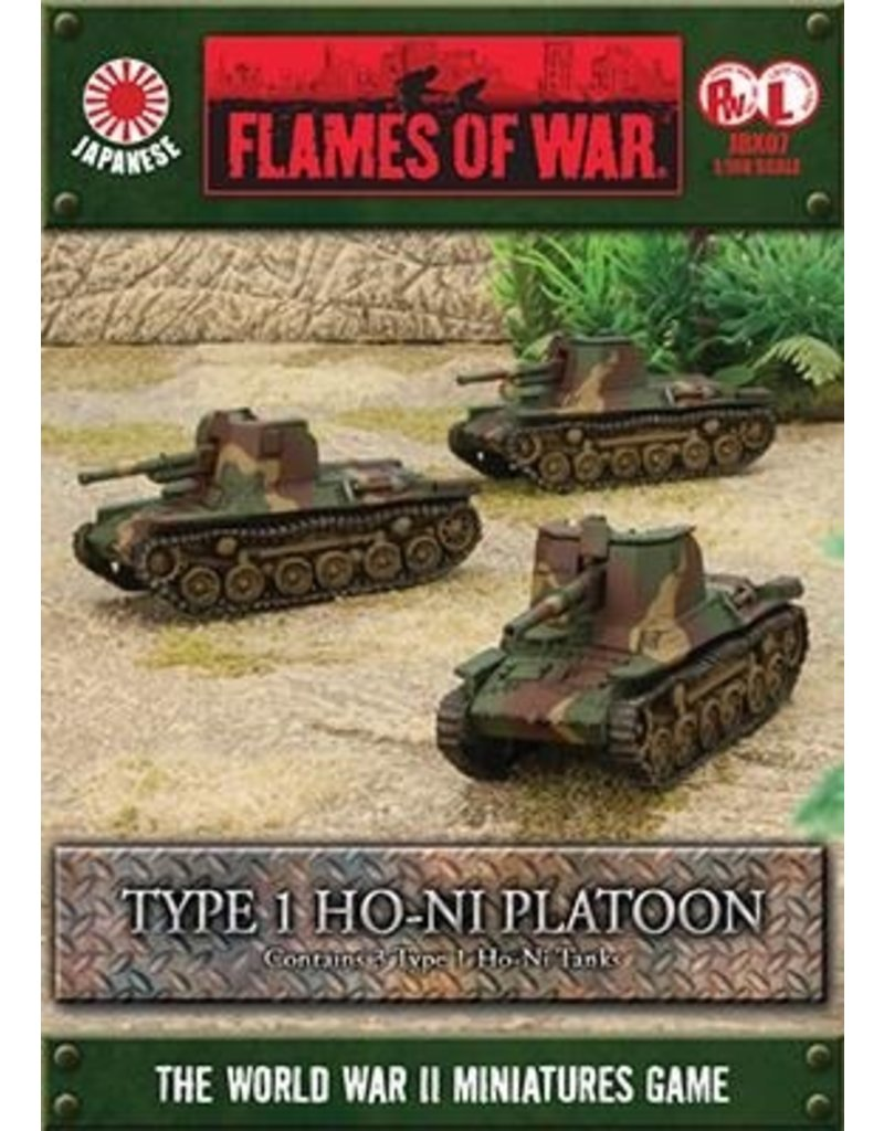 Flames of War JBX07 Type 1 Ho-Ni 1 Self-propelled Gun Platoon