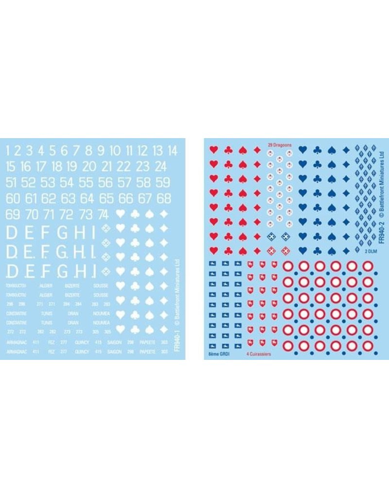 Flames of War FR940 French Decal Set