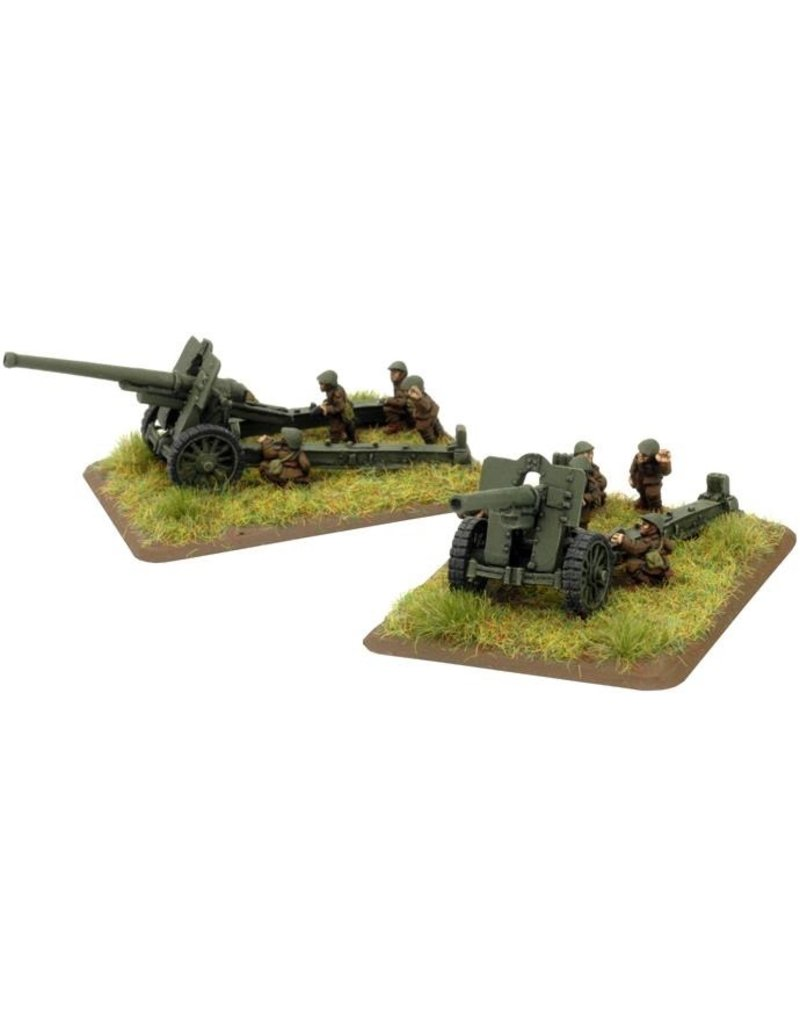 Flames of War RO595 Skoda 150mm M34 gun (x2)