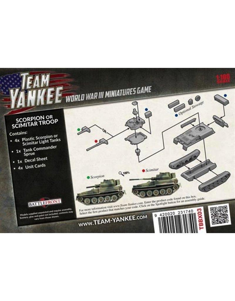 Team Yankee TBBX03 Scorpion or Scimitar Troop (Plastic)
