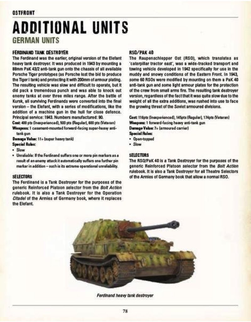 Bolt Action Bolt Action: Ostfront - Barbarossa to Berlin Rulebook